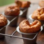 Blueberry Popovers with Berry Salad