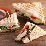 Avocado and Chicken Club Sandwich