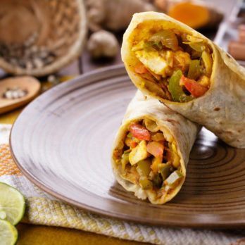 Indian Chicken and Broccoli Wrap