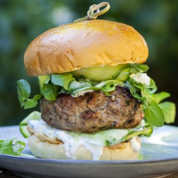 Mouthwatering Lamb Burgers with Fruity Relish