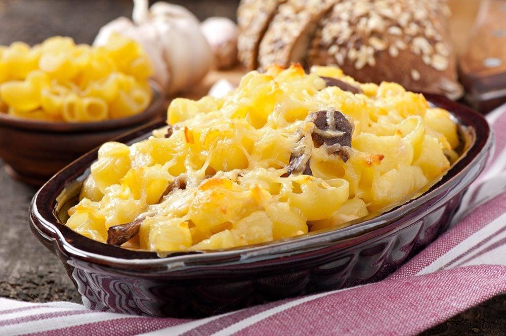 Mushroom and Cheese Macaroni