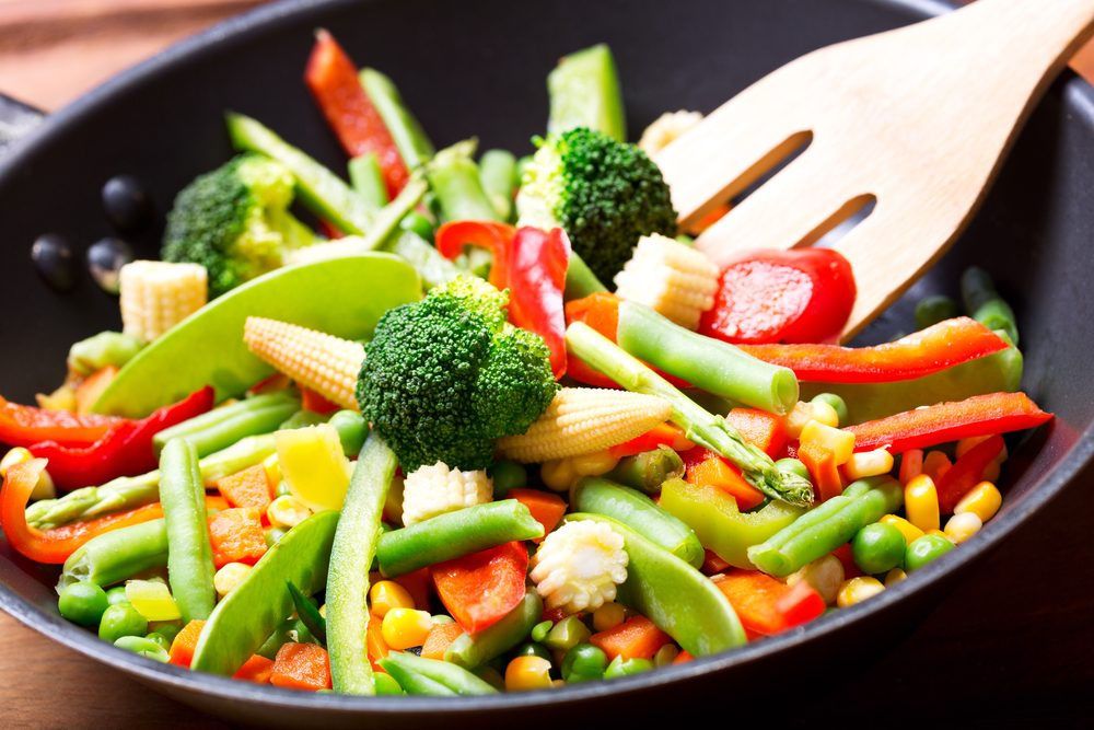 Spicy Garlic Vegetable Stir Fry With Tender Baby Corn