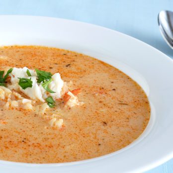 Creamy Tomato and Crab Soup