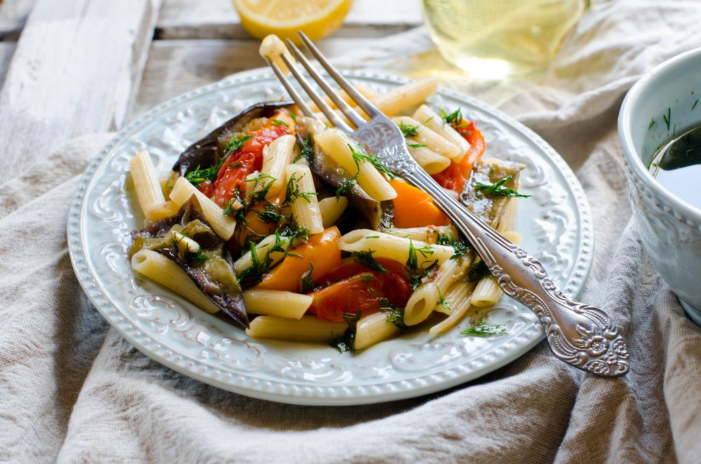 Roasted Vegetable Penne _healthy potluck recipes