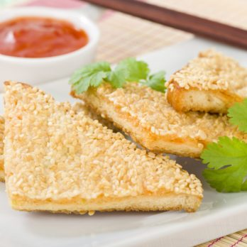 Sesame Shrimp and Crab Toast