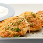 Potato Cakes with Baked Tomatoes