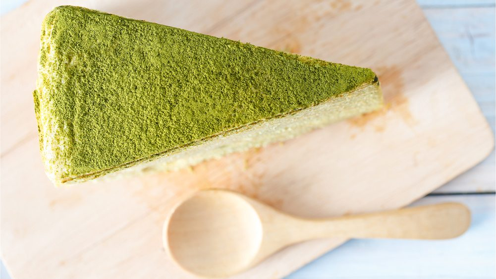 Matcha Green Tea Torte slice