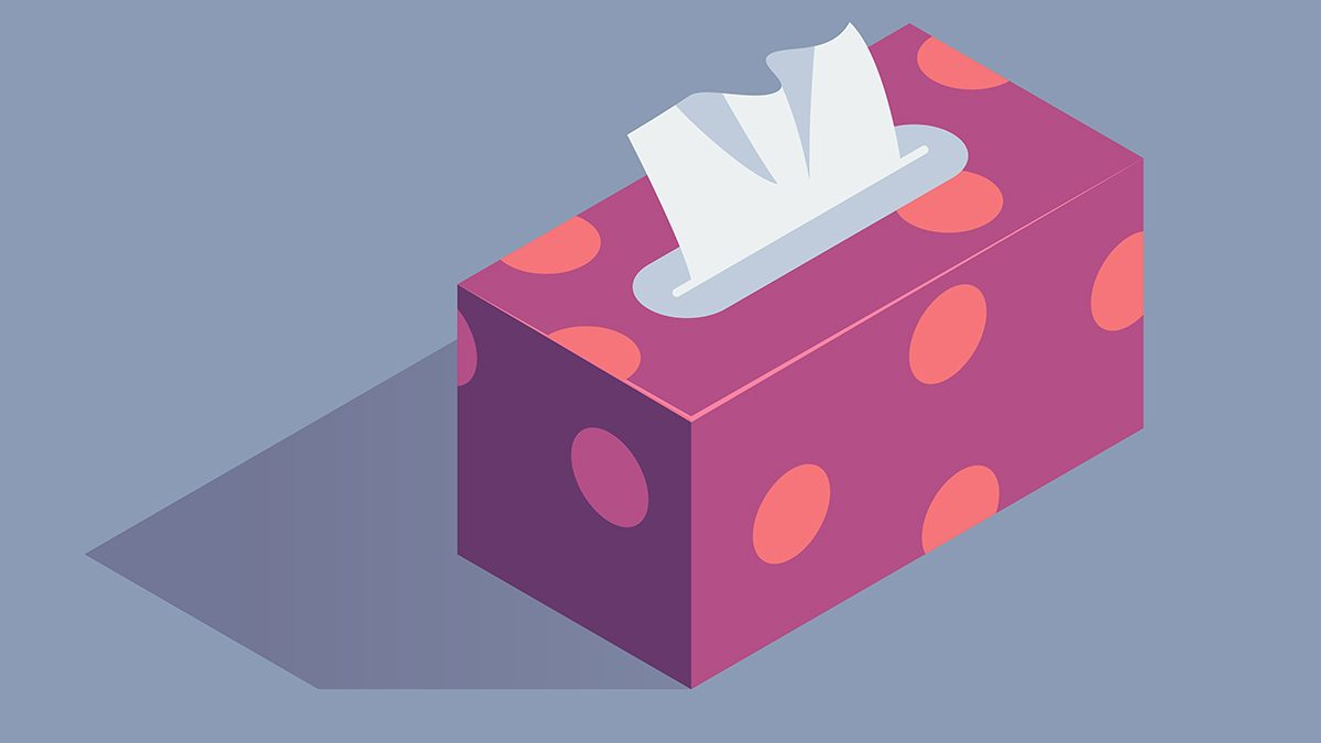 fight cold symptoms, a box of tissues
