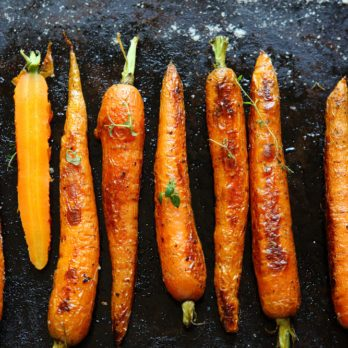Rustic Honey-Roasted Carrots With Thyme