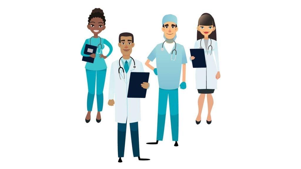 illustration of doctors