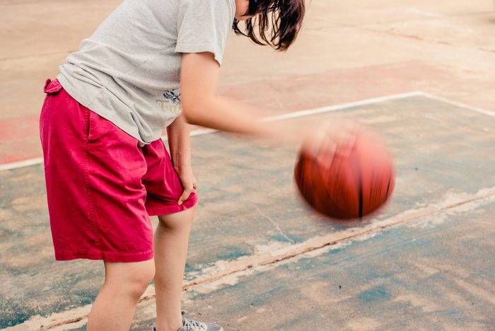 fun ways to stay in shape_woman playing basketball