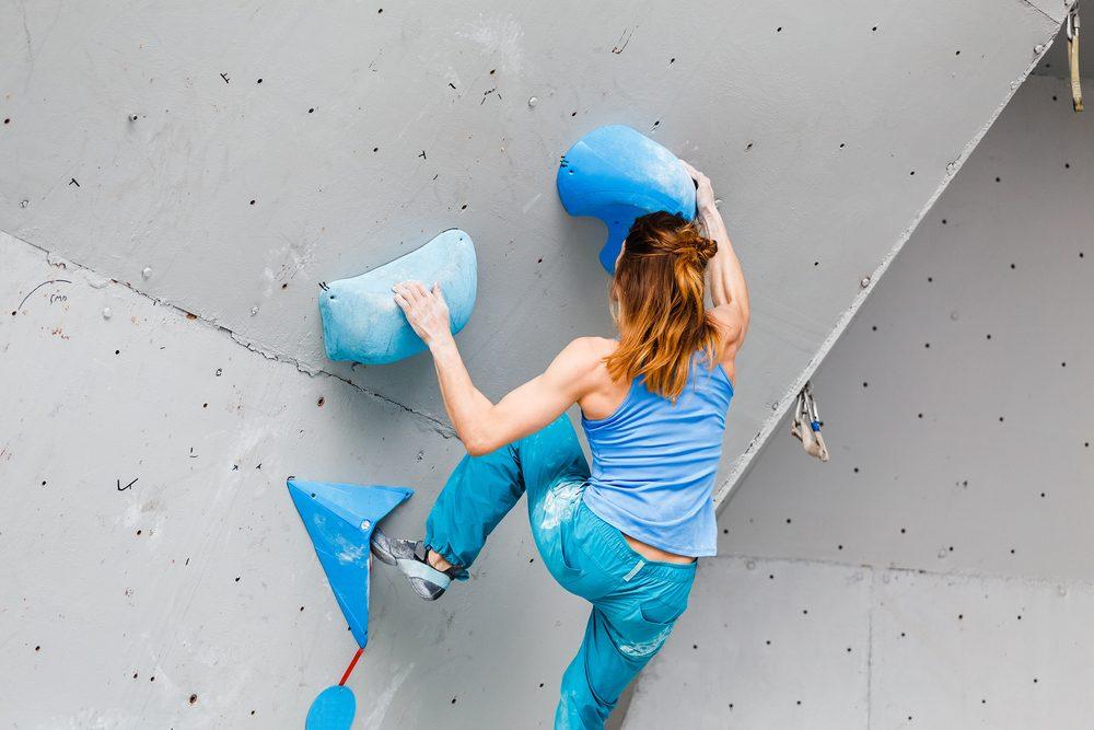 fun ways to stay in shape_woman rock climbing