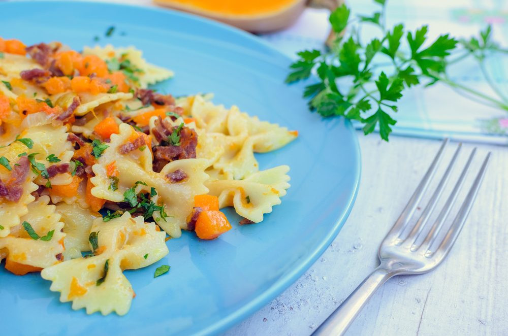 Rustic Farfalle Pasta With Sweet Squash
