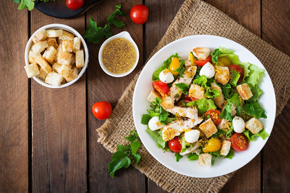 Tomato and Bread Salad with Herbed Chicken