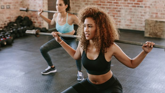 Personal Trainer, women motivating one another