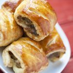 Turkey Sausage Rolls with Mango Chutney