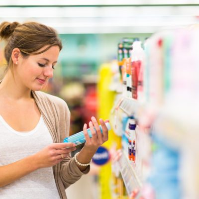 checking beauty products for petrolatum