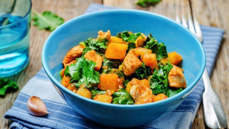 Sweet Potato Kale Salad