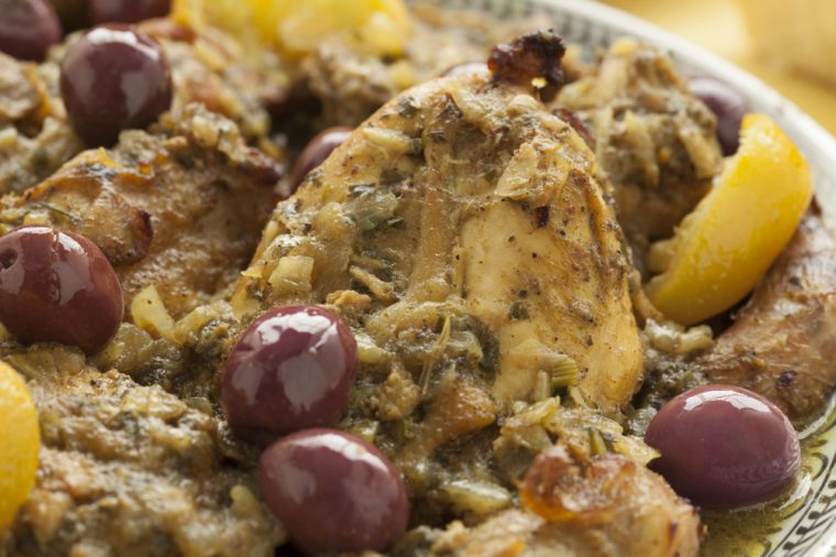 Moroccan Apricot & Olive Chicken