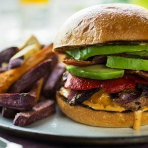 Turkey Burgers with Sweet Potato Fries