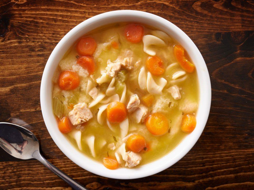 Flu Symptoms, soup