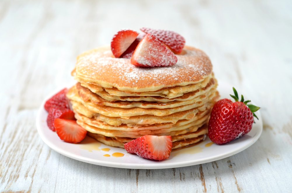 Strawberry Cake Pancakes