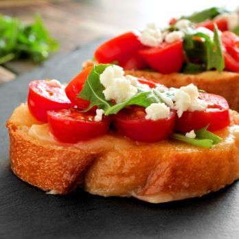 Tomato and Goat Cheese Bruschetta