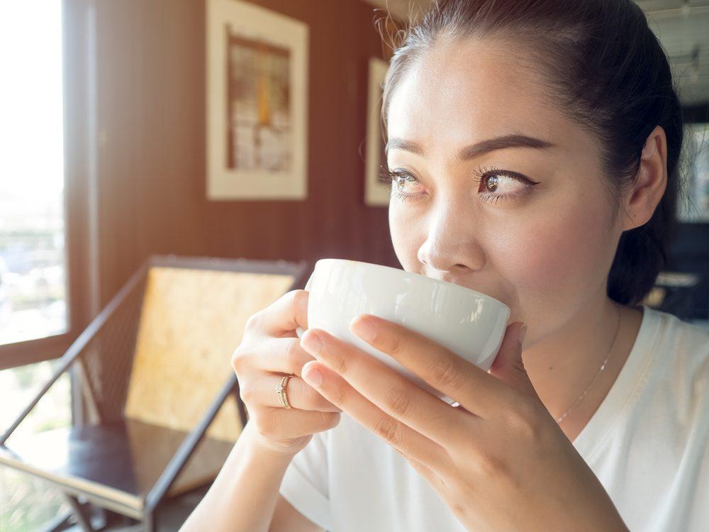 woman drinking coffee_always tired