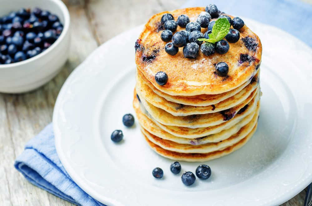quick and easy breakfast ideas | healthy breakfast | blueberry pancakes