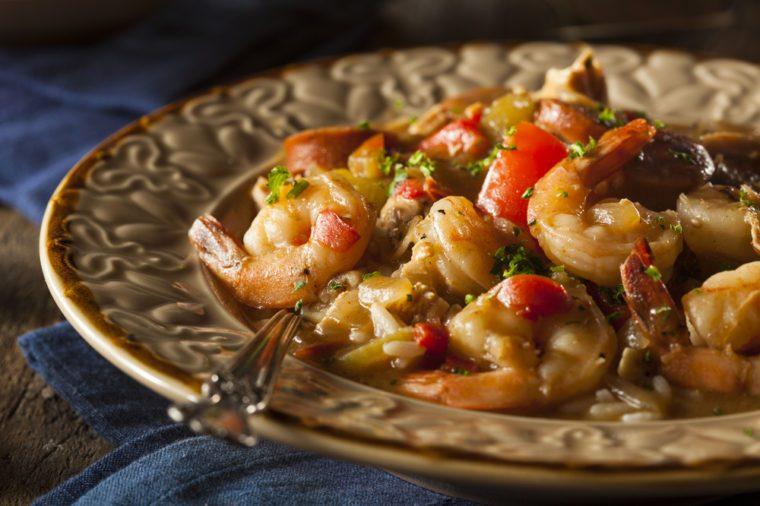 chicken shrimp gumbo