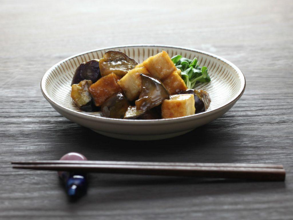 tofu and eggplant satays