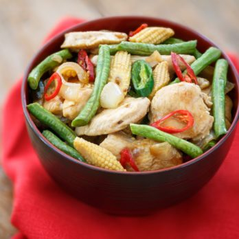 Spicy Pork and Baby Corn Stir-Fry