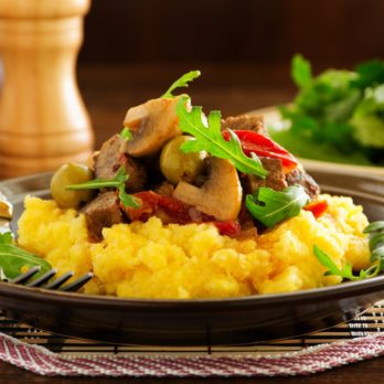 Polenta and vegetable salad