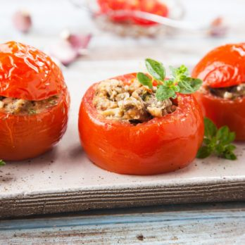 Baked Couscous Tomatoes