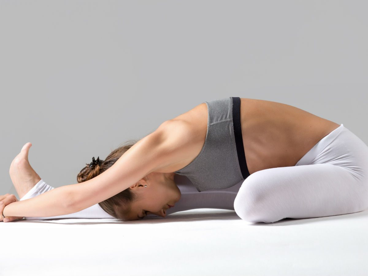 yoga for sleep Janu Sirsasana head-to-knee pose