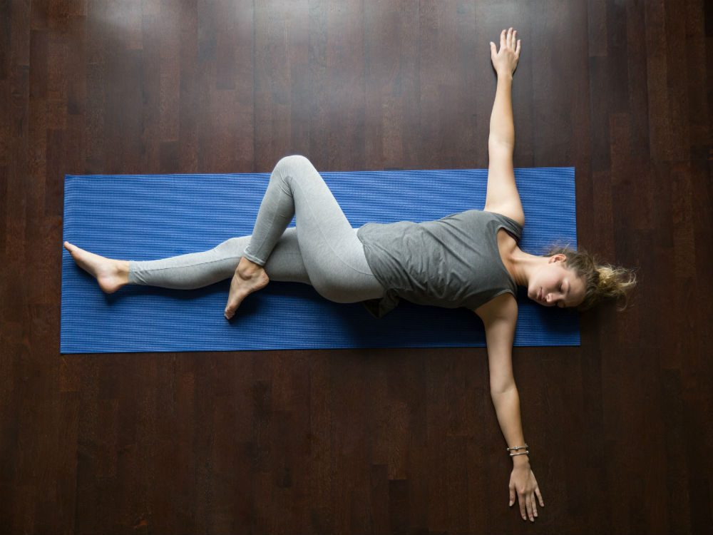 yoga for sleep Reclined twist