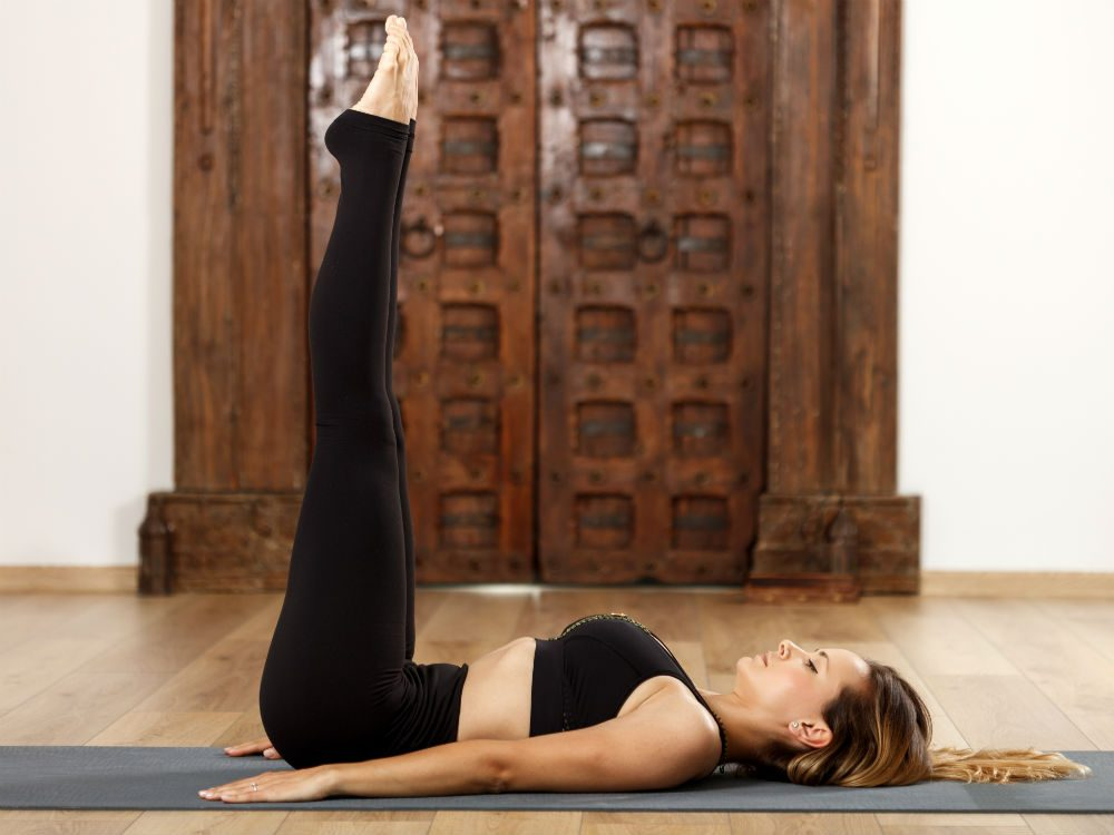 yoga for sleep Viparita Karani legs-up-the-wall pose