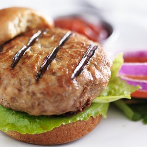 Open-Faced Asian Turkey Burgers