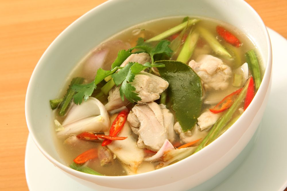 Chicken and Green Tea Soup