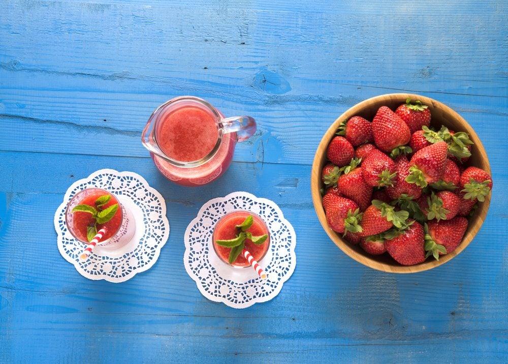 strawberry recipes | citrus smoothie