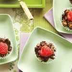 Chocolate Granola Raspberry Cups