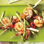 Grilled Shrimp & Asparagus Skewers