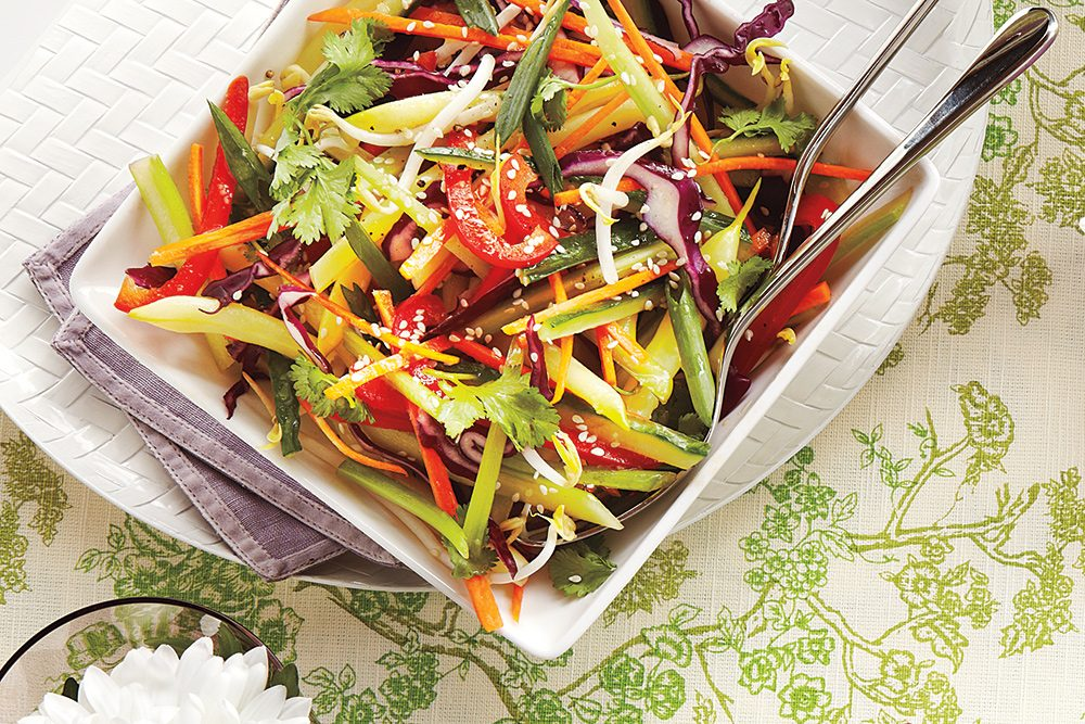julienne vegetable slaw