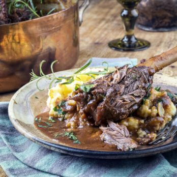 Slow-Cooker Burgundy Lamb Shanks