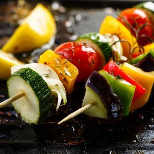 Italian Vegetable Kebabs