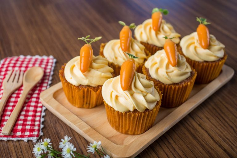yummy nut-free carrot cupcakes