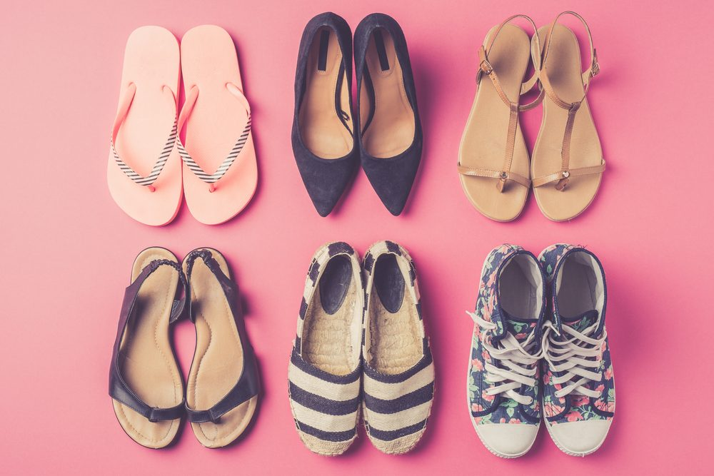 prevent foot odour_lots of shoes