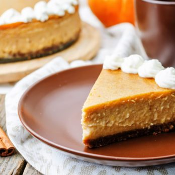 Pumpkin Maple Crustless Cheesecake