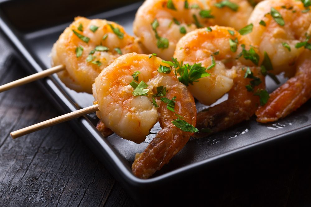 Shrimp Skewers with Mango Dipping Sauce