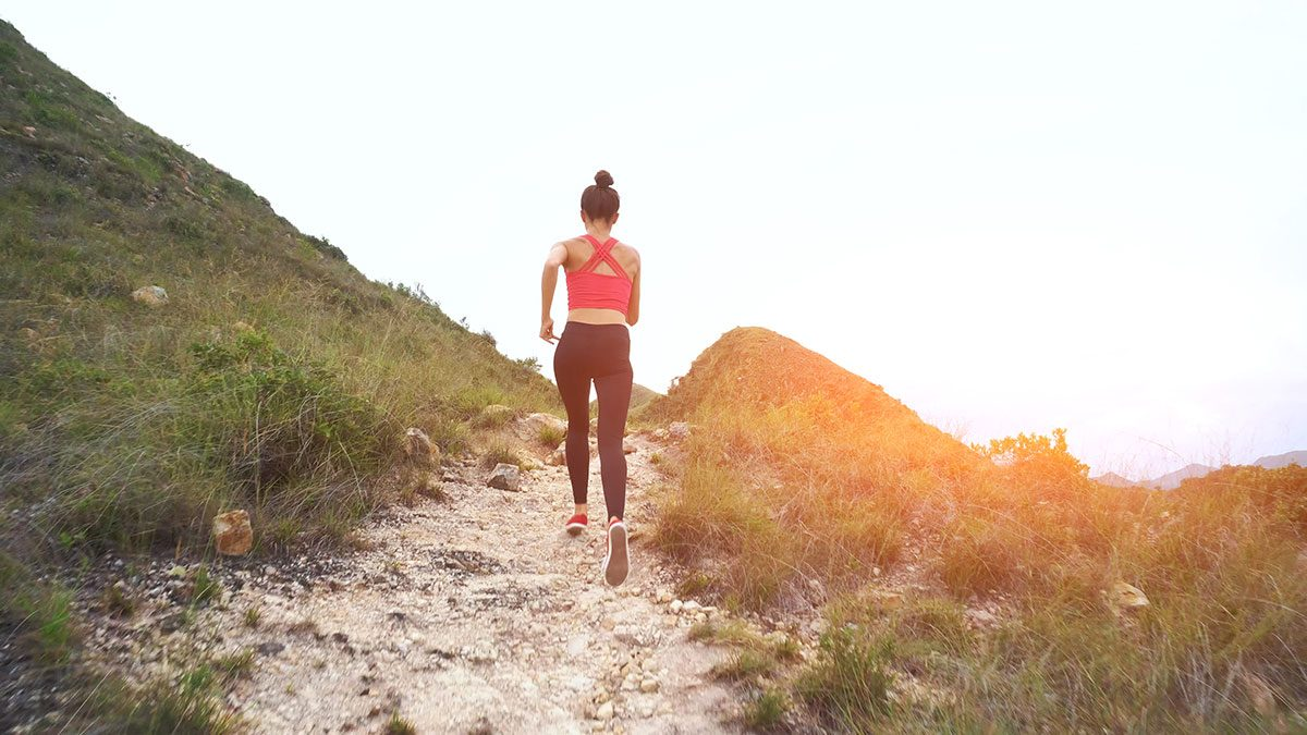 Benefits of Nature, woman running